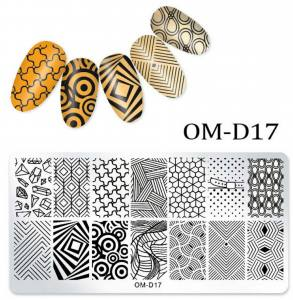 Пластина для стемпинга OM-D017