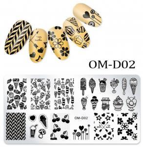 Пластина для стемпинга OM-D02