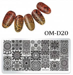 Пластина для стемпинга OM-D020