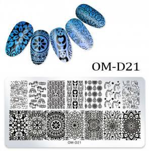 Пластина для стемпинга OM-D021