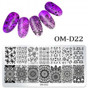 Пластина для стемпинга OM-D022