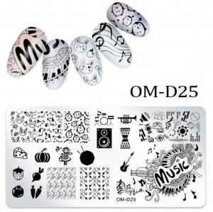 Пластина для стемпинга OM-D025