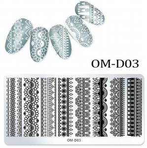 Пластина для стемпинга OM-D03