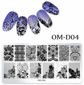Пластина для стемпинга OM-D04