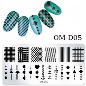 Пластина для стемпинга OM-D05