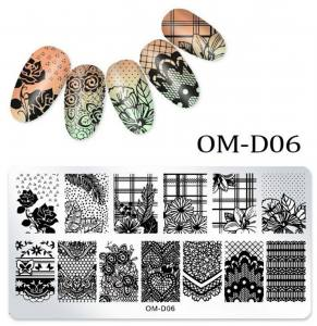 Пластина для стемпинга OM-D06