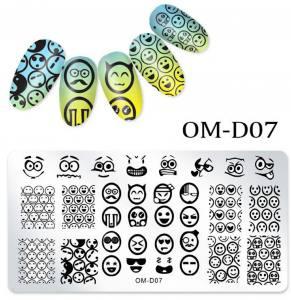 Пластина для стемпинга OM-D07