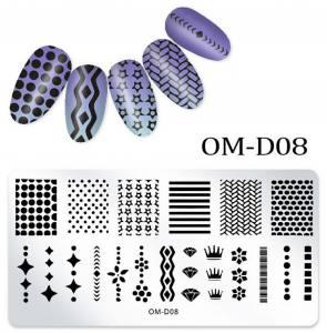 Пластина для стемпинга OM-D08