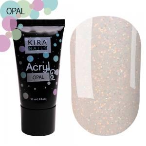 Acryl Gel Акригель Kira nails 30г Opal
