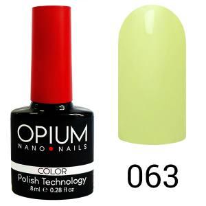 Гель лак OPIUM 8ml №63 Нежно-зеленый