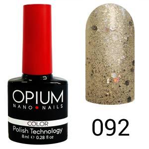 Гель лак OPIUM 8ml №92  Бриллиантовые брызги