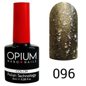Гель лак OPIUM 8ml №96  Белое золото с шимером