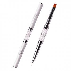 Кисть Komilfo двусторонняя Double Gel flat 6 (Nylon)/Liner 9 (Nylon)