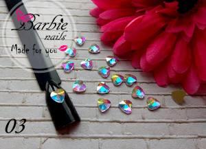 Стразы фигурные стекло BarbieNails 1шт №3