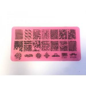 Пластина для стемпинга XY-L029