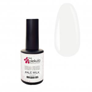 Гель моделирующий для ногтей  Molekula Euro fiber gel Gel Pale Milk (молочный) 12мл