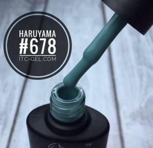 Гель-лак Haruyama Классика №678, приглушенный бирюзовыйй,  8 мл