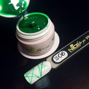Гель-паутинка  Nice for you Stretch-Gel 006 зеленая