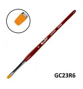 Кисть для геля Roubloff GC23R №6 синтетика плоская