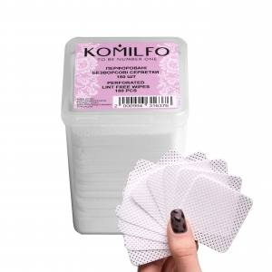 Komilfo перфорированные, безворсовые салфетки в боксе, 180 шт