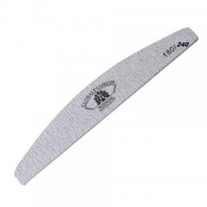 Пилочка для ногтей Global Fashion серая луна 180/240