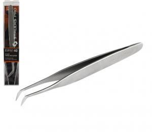 Пинцет для наращивания ресниц Staleks PRO Expert TE-40/3, изогнутый, 11 см (башмачок 45*)