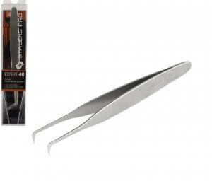 Пинцет для наращивания ресниц Staleks PRO Expert TE-40/4, изогнутый, 10,8 см (башмачок 40*)
