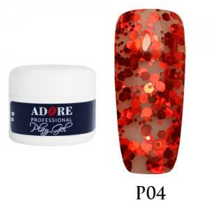 Гель Adore Play Gel P04 красный  5мл