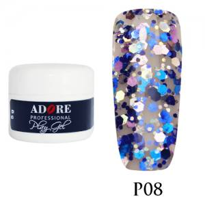 Гель Adore Play Gel P08 синий с розово-сиреневым 5мл
