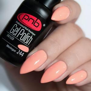 Гель-лак PNB Meringue 244 8мл, розово-персиковый