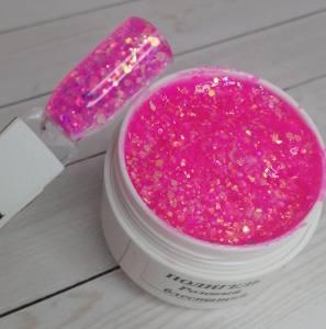 Полигель розовый с блеском 15г
