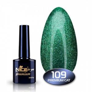 Гель-лак Nice с эффектом хрустального кошачьего глаза Premium 8,5 мл 109