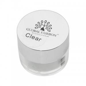 Пудра акриловая прозрачная Global 15 г Clear