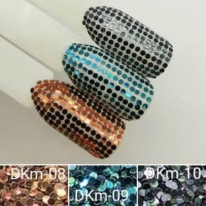 Диско конфетти для дизайна ногтей, голографические, DKM