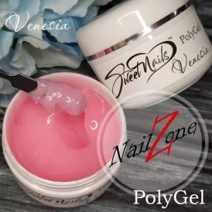 Полигель - гель гибрид на вес Venesia №4 нежно-розовый