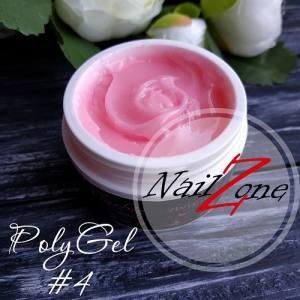 Полигель - гель гибрид на вес №4 нежно-розовый