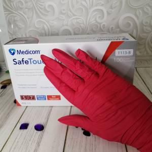 Перчатки нитриловые Medicom SafeTouch® Advanced™ Red (4 г)