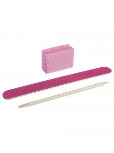 Набор одноразовый Kodi №3 розовый (пилочка 120/120, баф 120/120, апельсиновая палочка)