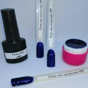Гель-лак на розлив 5г №490 синий с микроблеском