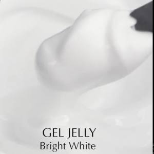 Гель для наращивания Komilfo Gel Jelly Bright White, белый 15 г