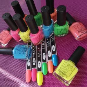 Лак-краска для стемпинга Saga Neon 8мл