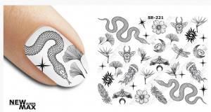 Слайдер-дизайн для ногтей New Max SB-221