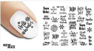 Слайдер-дизайн для ногтей New Max SB-228