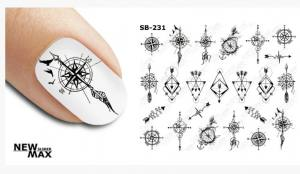Слайдер-дизайн для ногтей New Max SB-231