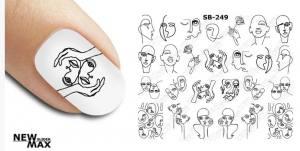 Слайдер-дизайн для ногтей New Max SB-249