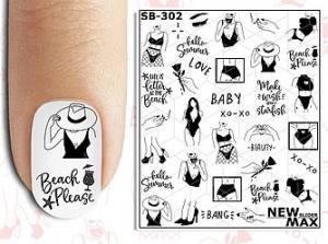 Слайдер-дизайн для ногтей New Max SB-302