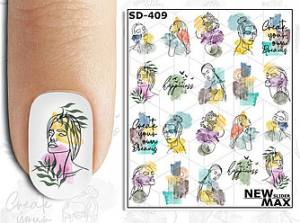 Слайдер-дизайн для ногтей New Max SD-409