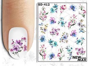 Слайдер-дизайн для ногтей New Max SD-412