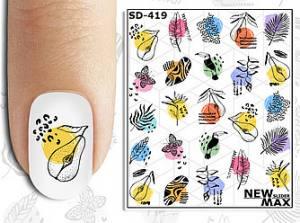 Слайдер-дизайн для ногтей New Max SD-419