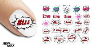Слайдер-дизайн для ногтей New Max SD-312